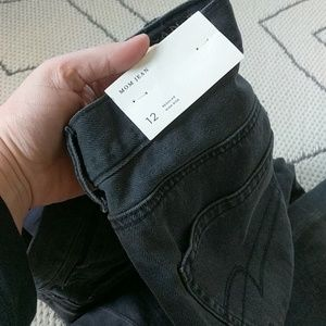 NWT embroidered black mom jeans